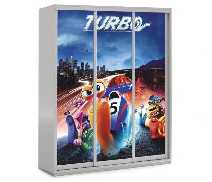 детский шкаф купе 3 дверки мульт турбо