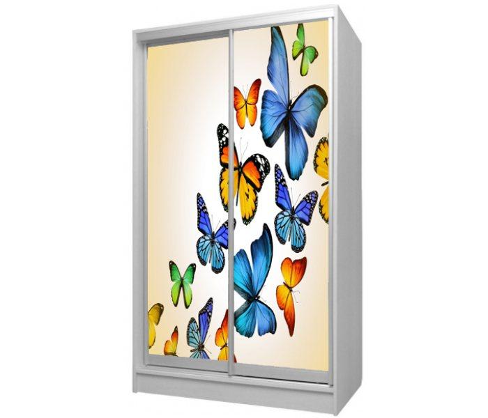 детский шкаф купе 2 дверки бабочка