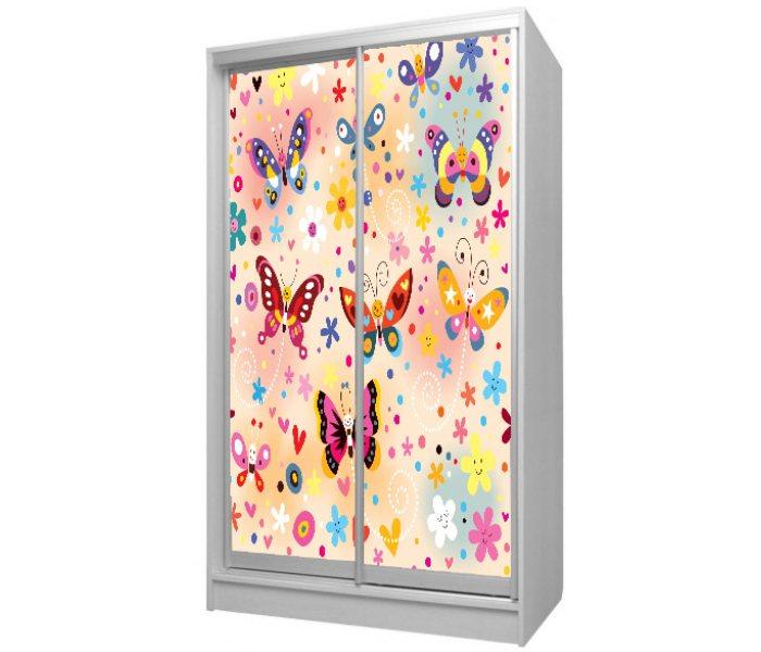 детский шкаф купе 2 дверки бабочки