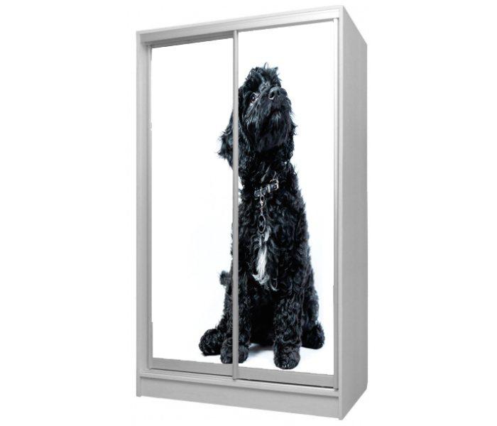 детский шкаф купе 2 двери собачка черная