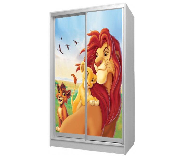 детский шкаф купе 2 двери король лев