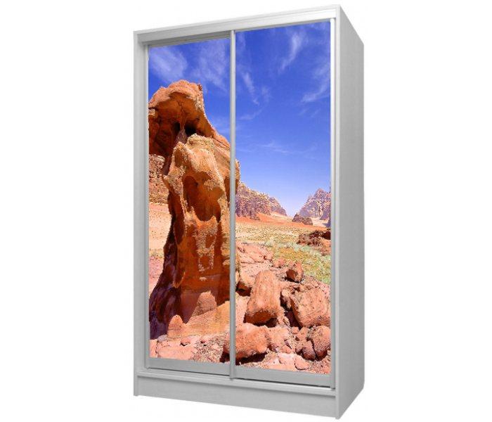 детский шкаф купе 2 двери с рисунком камня
