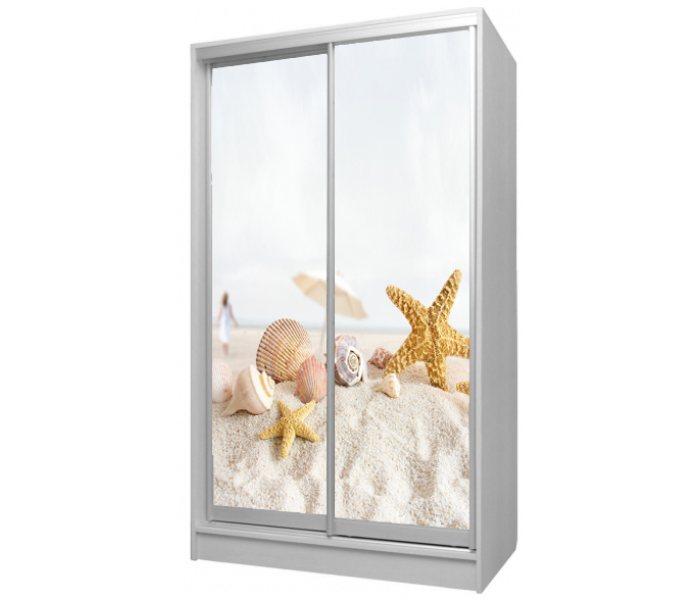 детский шкаф купе 2 двери ракушки в песке