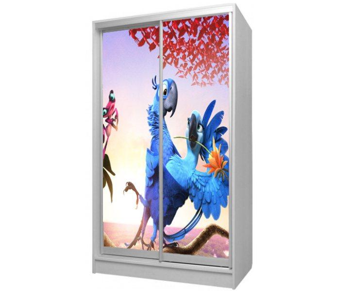 детский шкаф купе 2 дверки мультик рио попугай