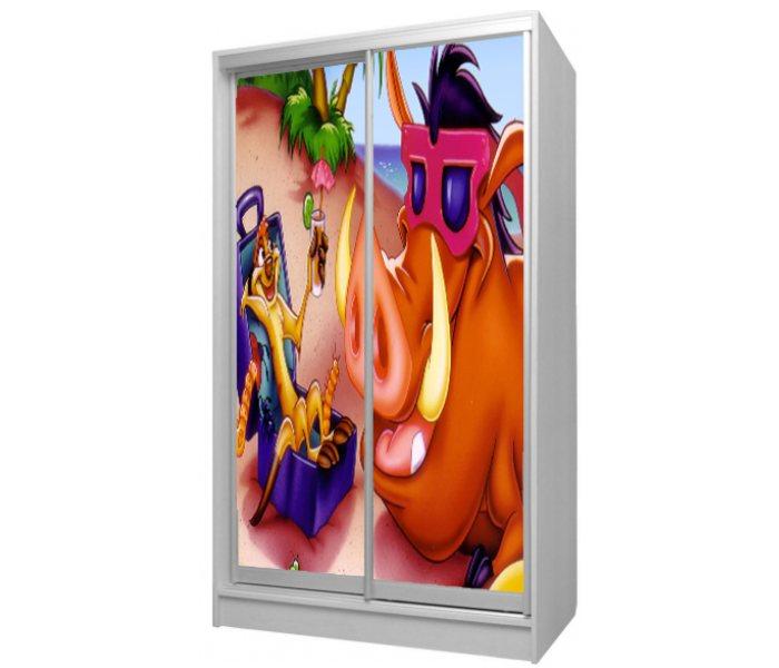 детский шкаф купе 2 двери тимон и пумба