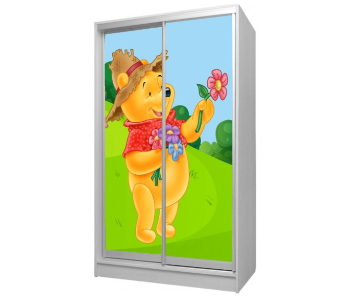 детский шкаф купе 2 двери винни пух