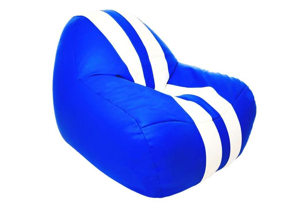 кресло мешок формула 1 синее полосами