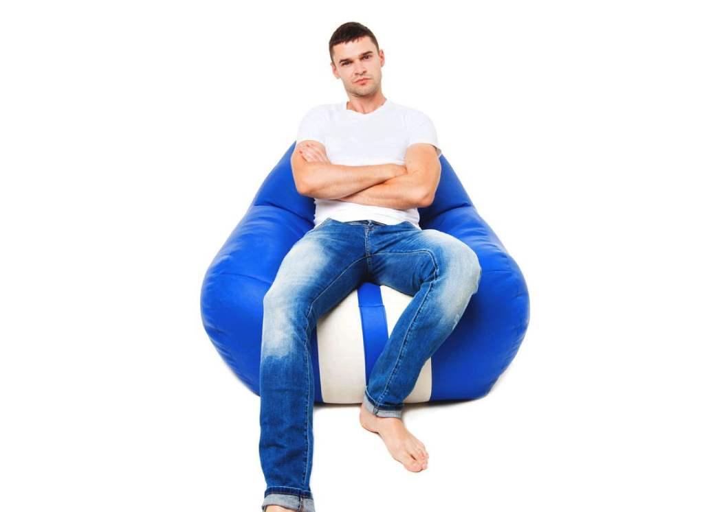 кресло мешок формула 1 синее