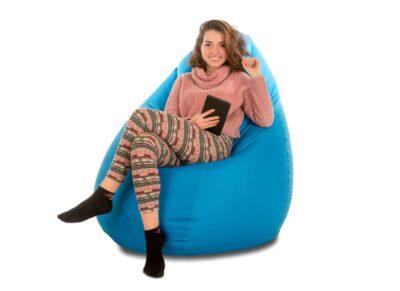кресло мешок груша голубая