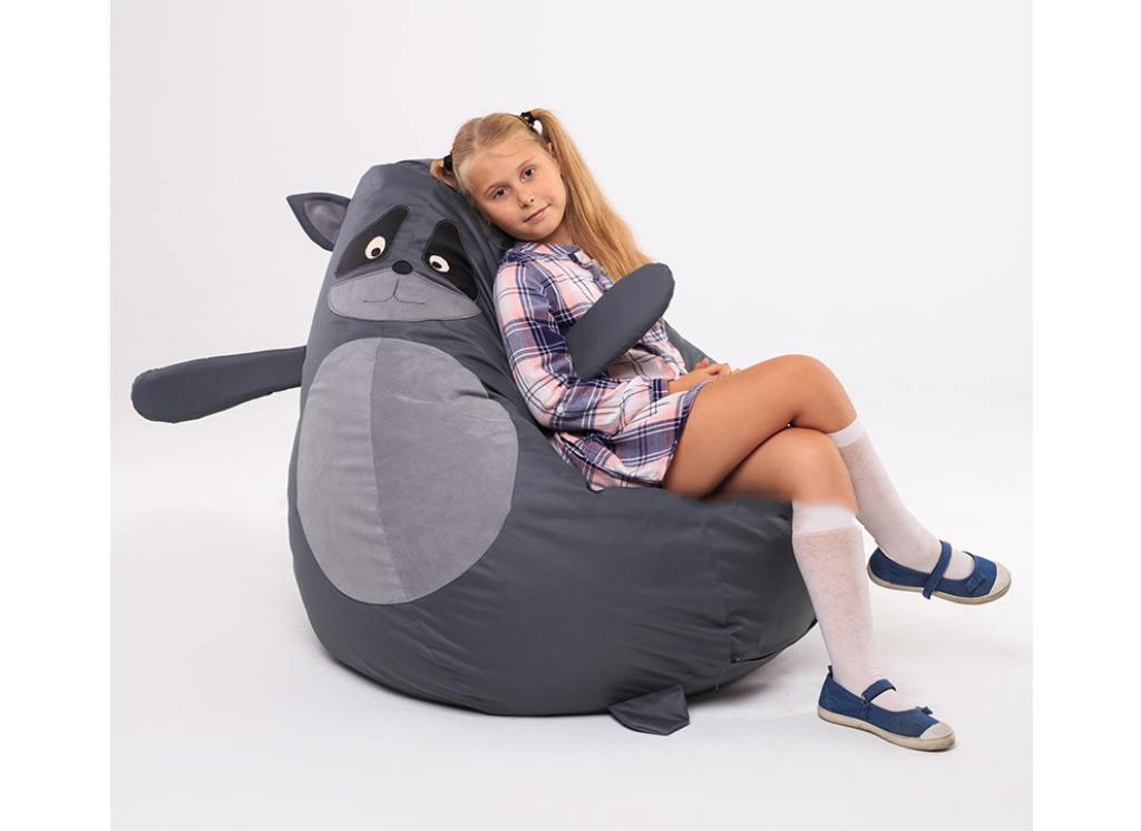 кресло мешок енот для ребенка