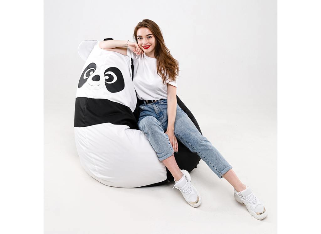 кресло мешок панда с девочкой