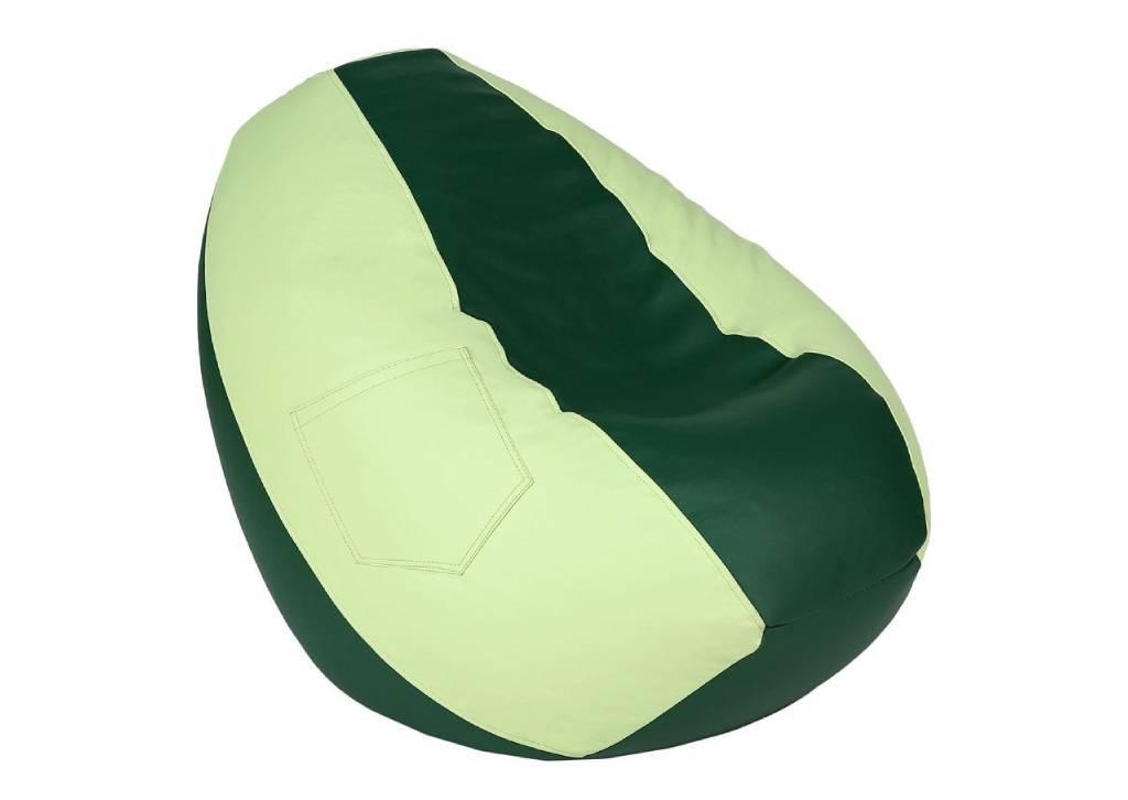 кресло мешок из эко кожи груша зеленая