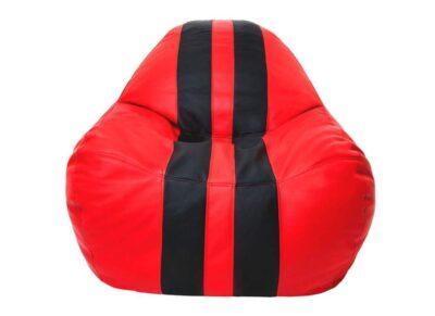 кресло мешок формула 1 красное с черными полосами
