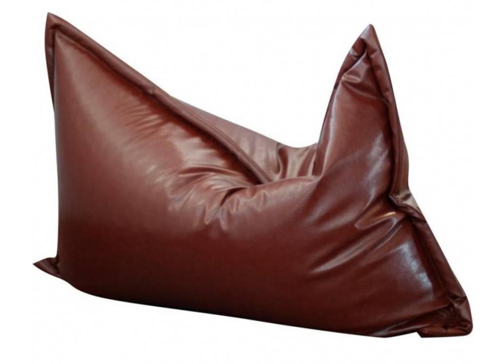 кресло мешок мат кожанное коричневое