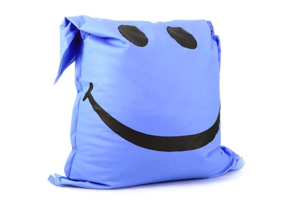 кресло мешок подушка мат голубое