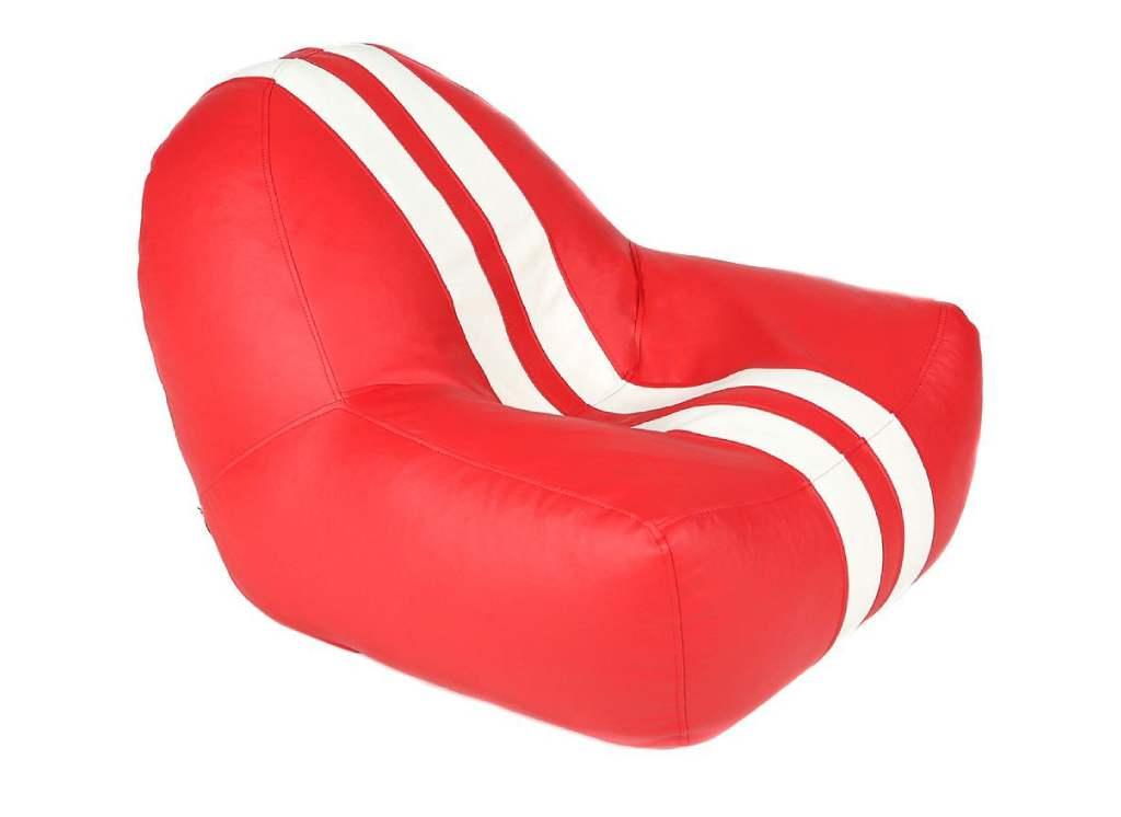 кресло мешок формула 1 красное с белыми полосами
