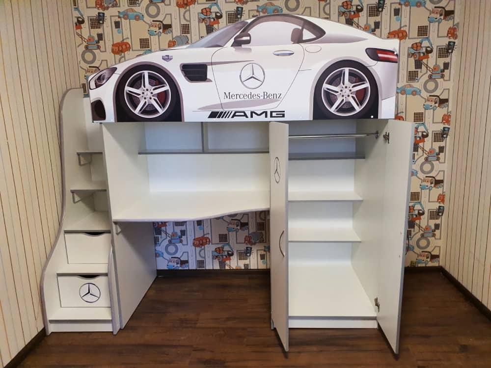 кровать машина чердак со шкафом