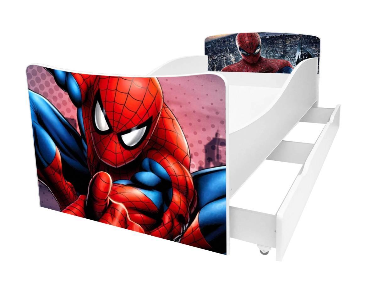 детская кровать киндер человек паук