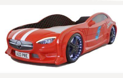 детская кровать машина из пластика красный мерседес