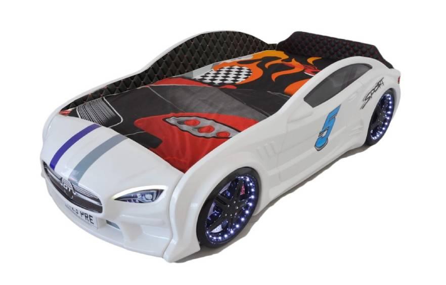детская кровать машина из пластика белый мерседес