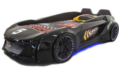 детская кровать машина из пластика ягуар черная