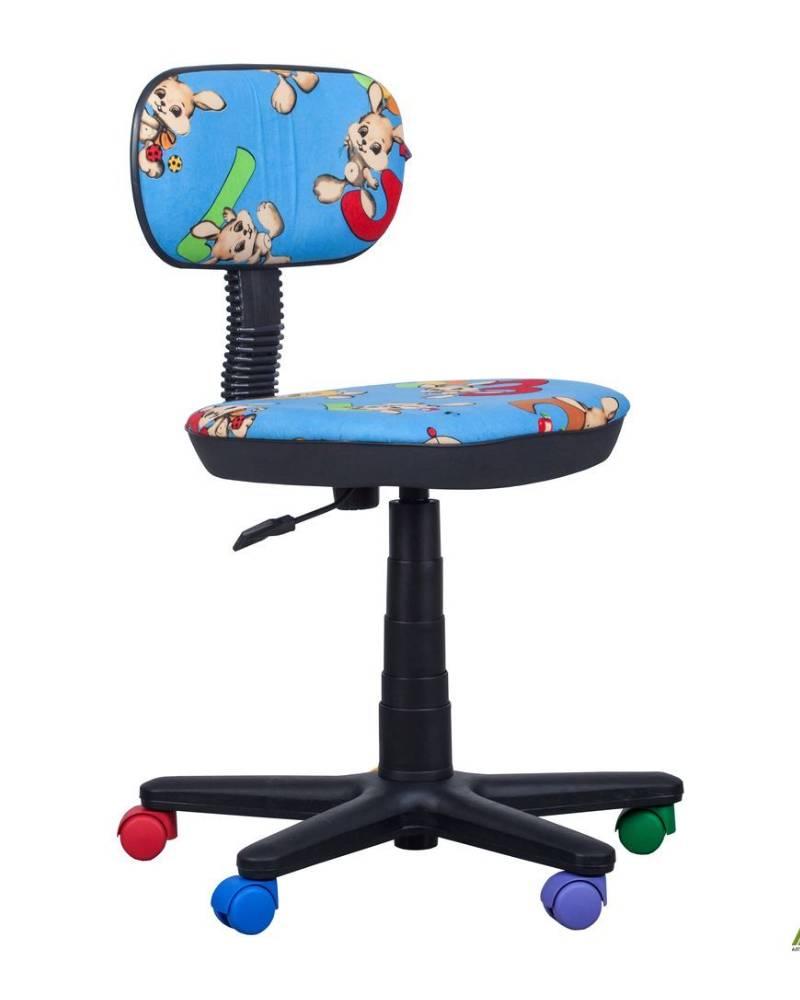 детское компьютерное кресло бамбо зайчики голубые