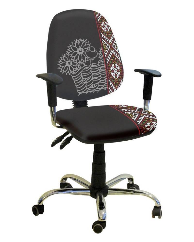 детское компьютерное кресло бридж орнамент черные цветы