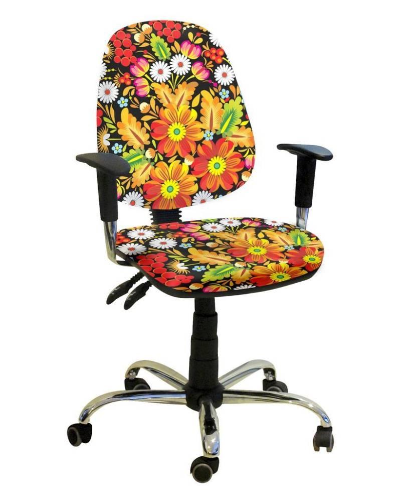 детское компьютерное кресло бридж орнамент цветочный