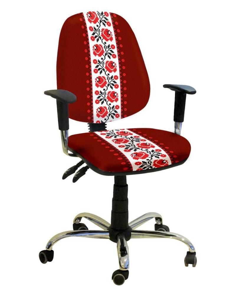 детское компьютерное кресло бридж орнамент красное