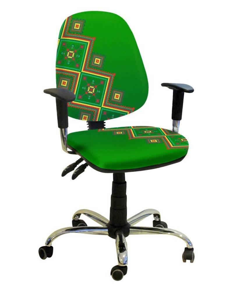 детское компьютерное кресло бридж орнамент зеленое