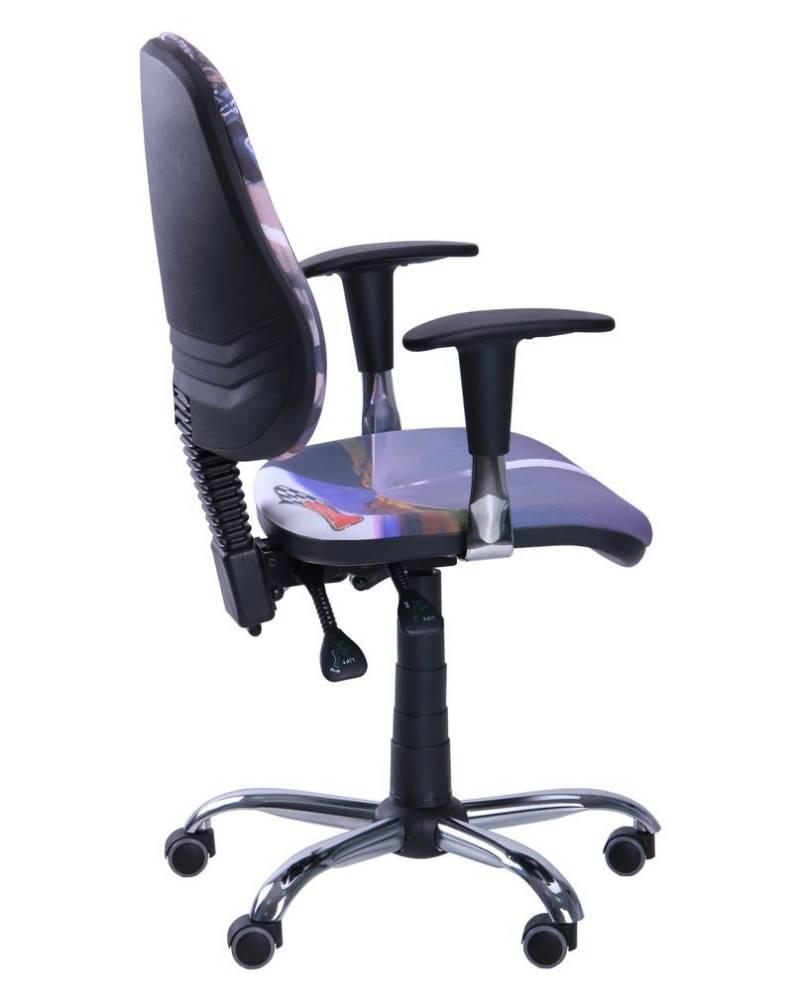 детское компьютерное кресло бридж хром сбоку