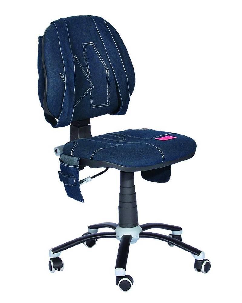детское кресло джинс