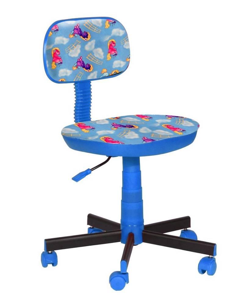 детское кресло киндер пони голубой