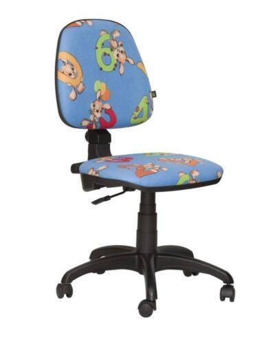 Детское компьютерное кресло пул зайчики голубые
