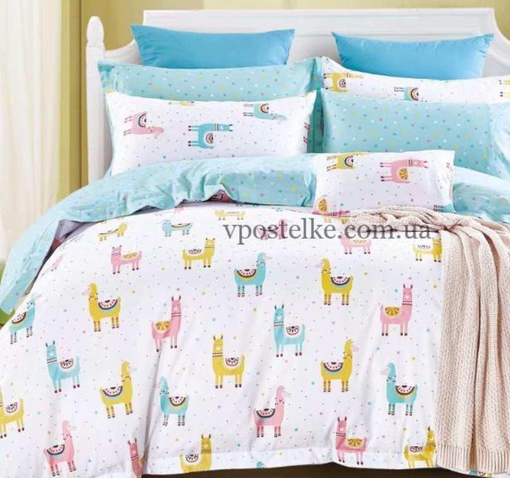 детское постельное сатин элит ламы