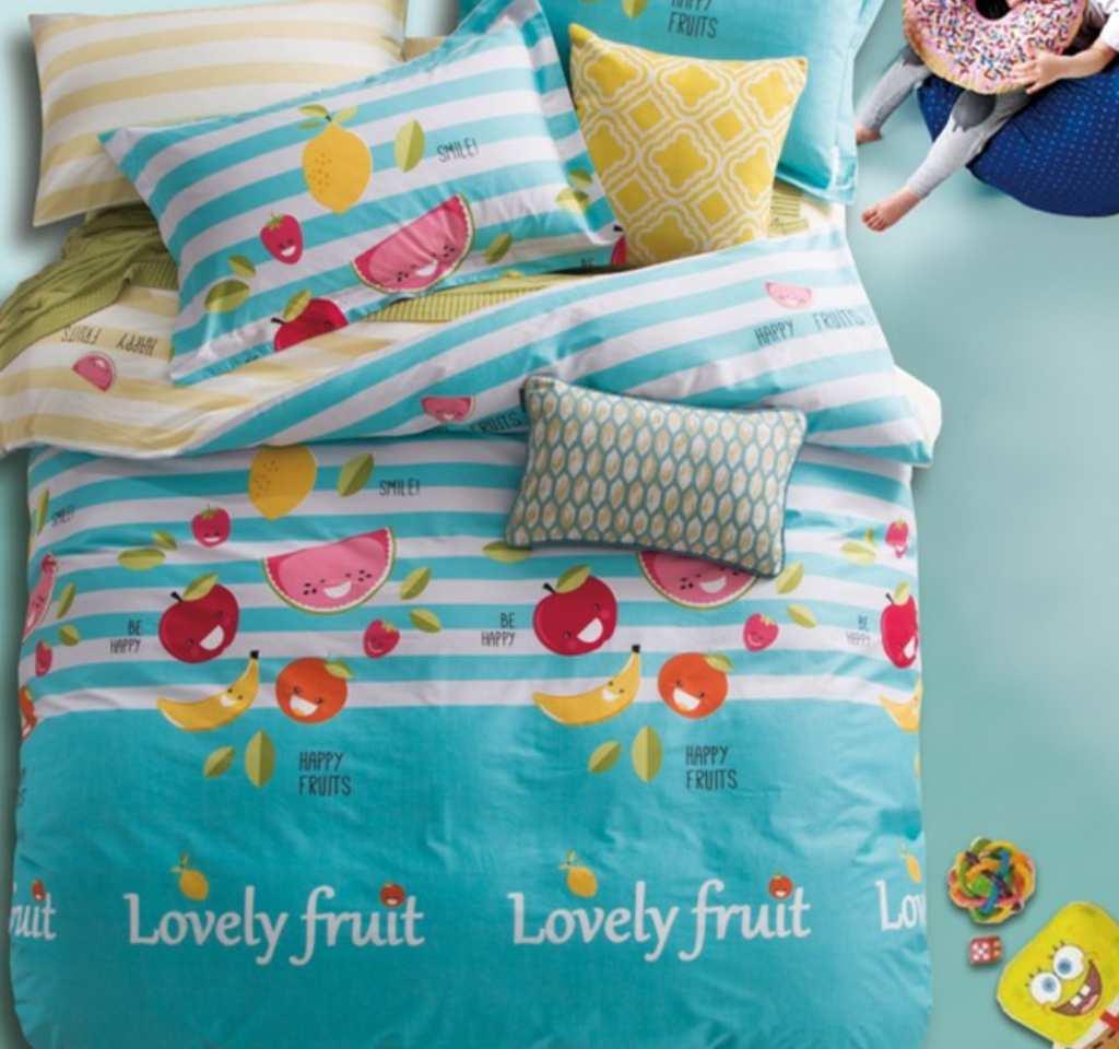детское постельное сатин элит любимые фрукты