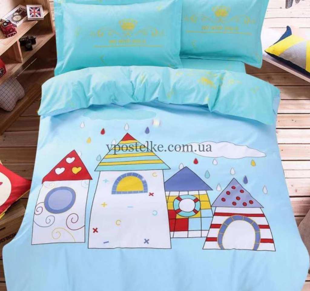 детское постельное сатин панель городок