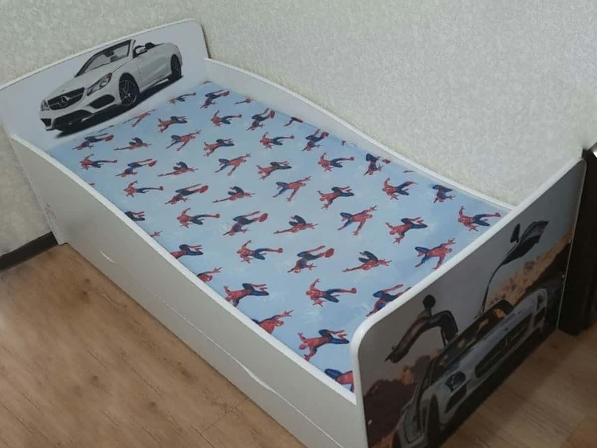 детская кровать киндер автомобили