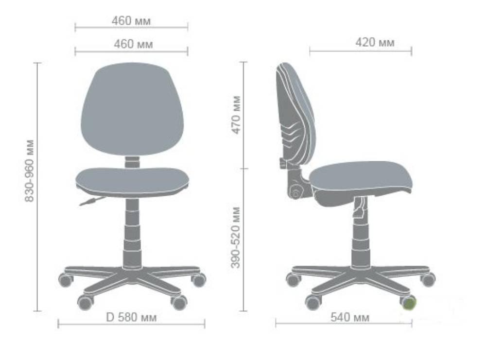 схема детского кресла эктив