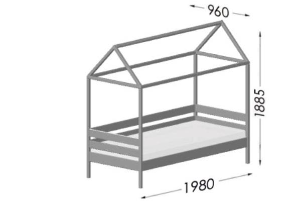кровать домик амми из бука схема