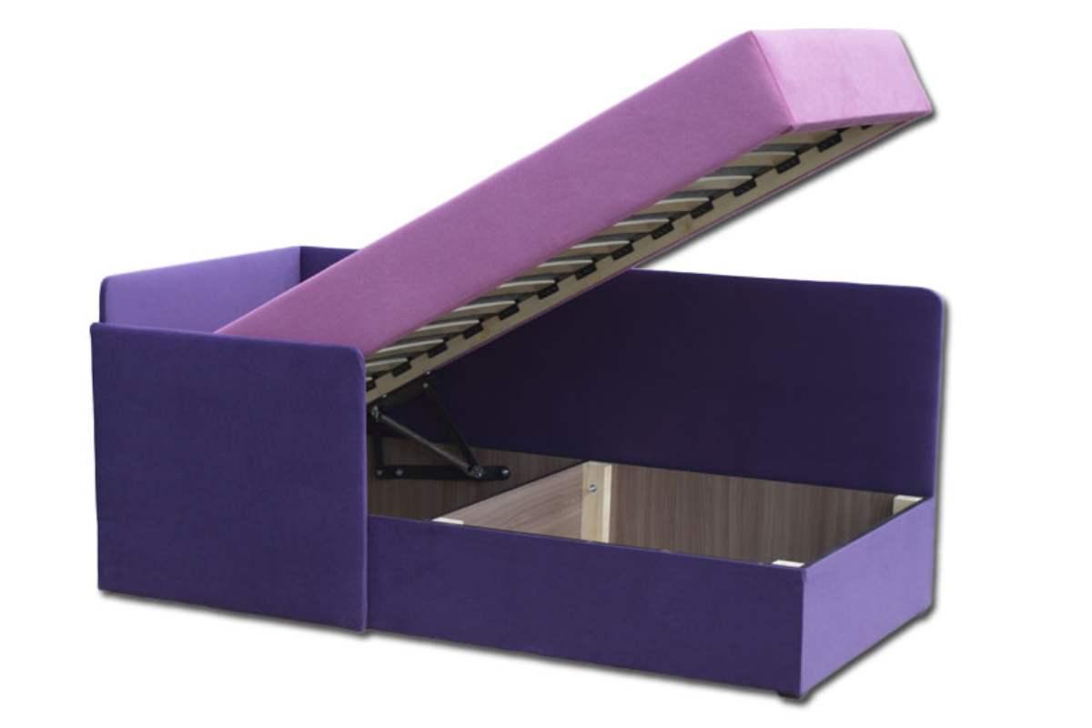 кровать диван бамбино фиолетовый