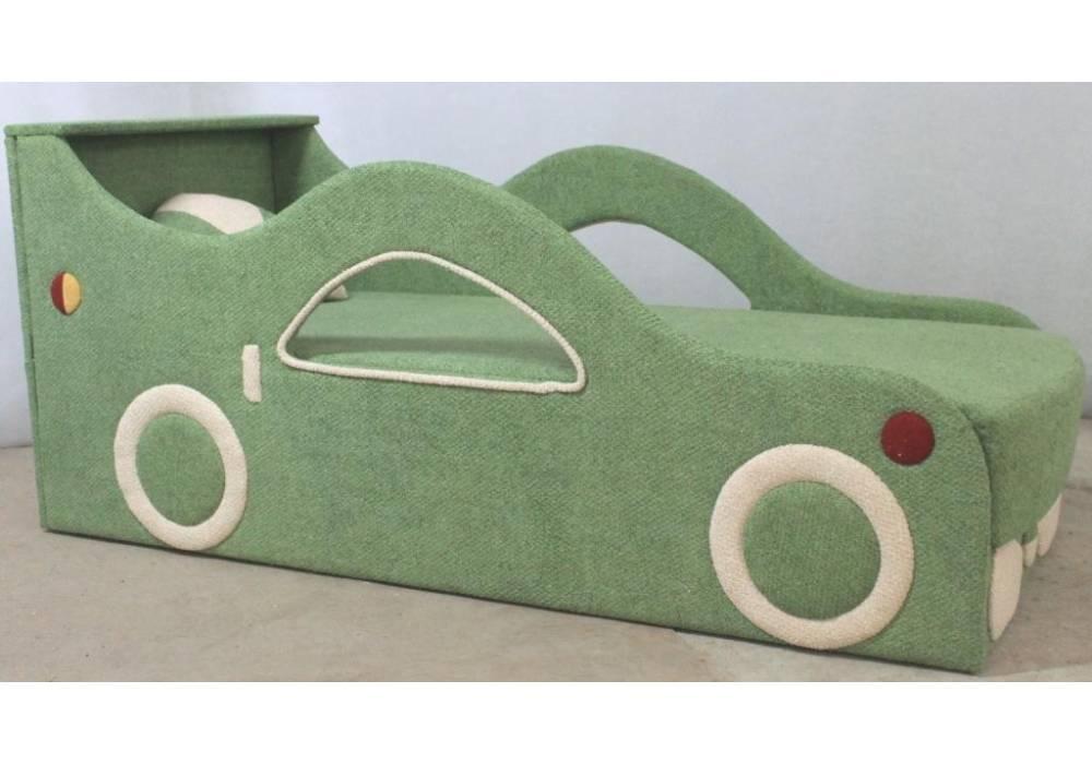 детская кровать диван бмв зеленый