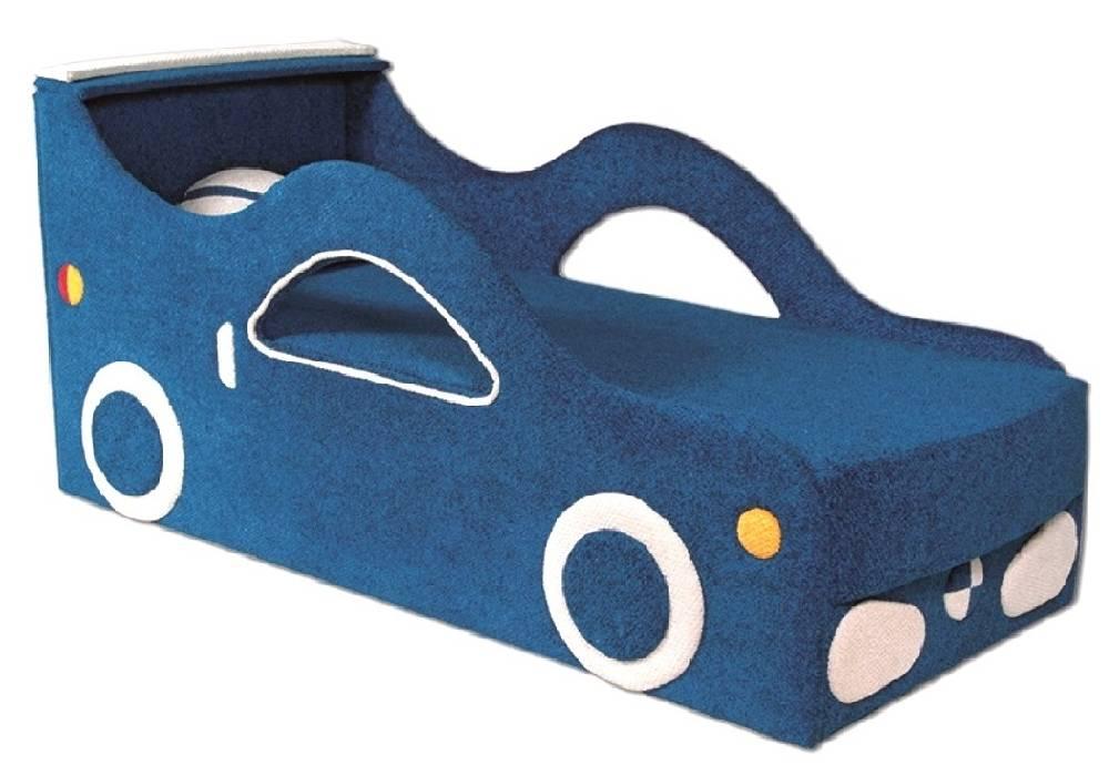 детская кровать диван бмв синий