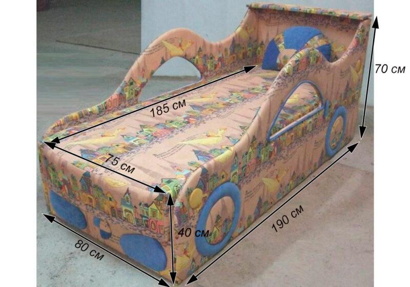 детская кровать диван бмв схема