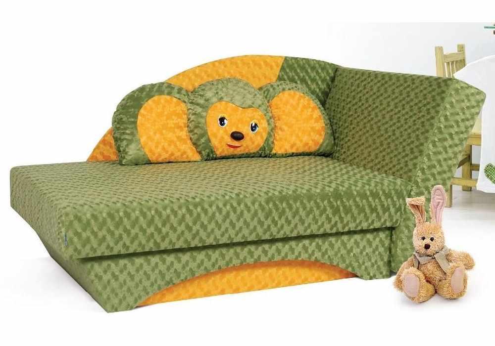 детский диван кровать чебурашка зеленый