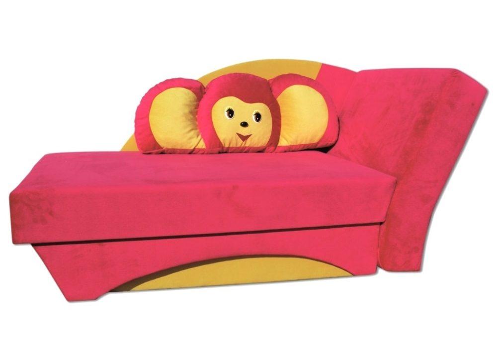 детский диван кровать чебурашка розовый