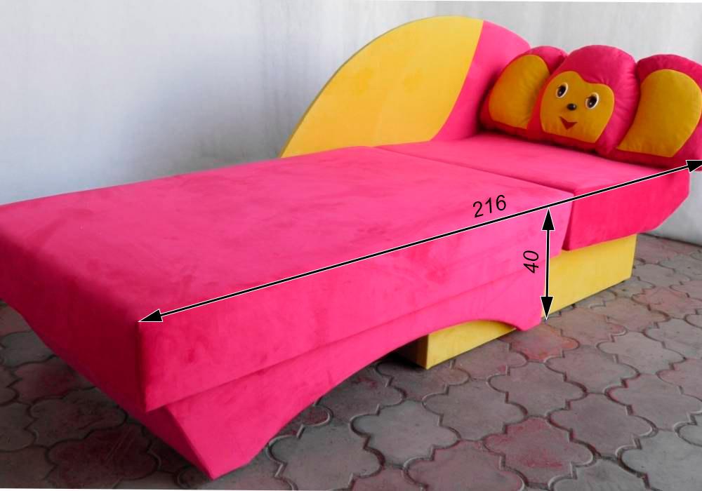 схема детского дивана чебурашка разложенного