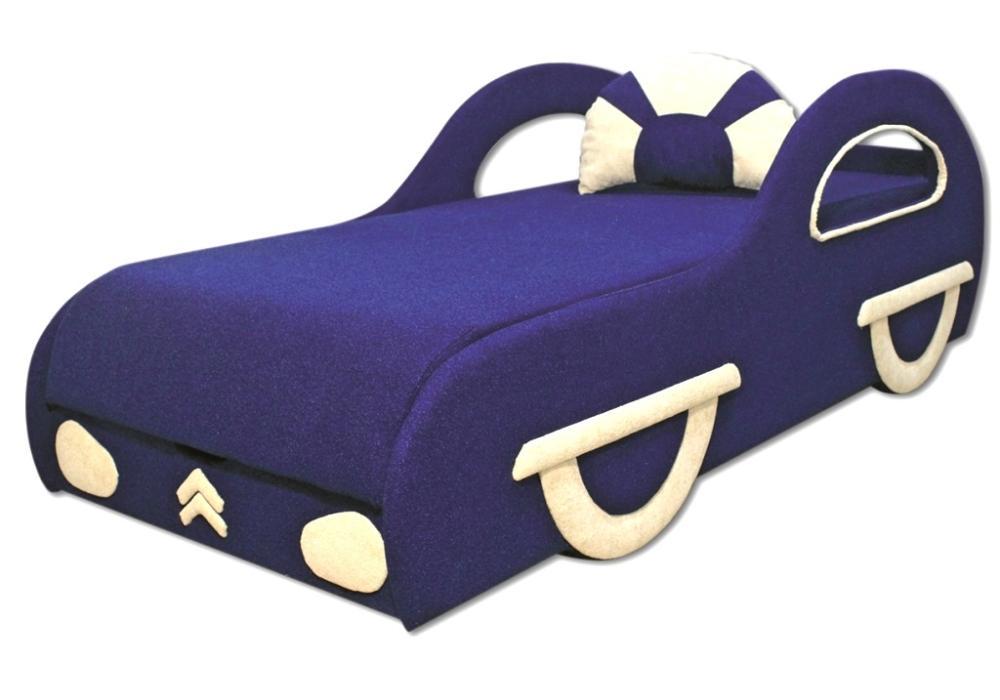 детский диван кровать машина ситроен синий