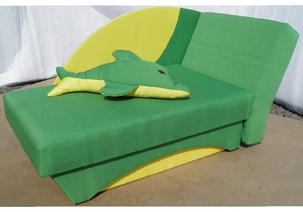 детский диванчик дельфин зеленый