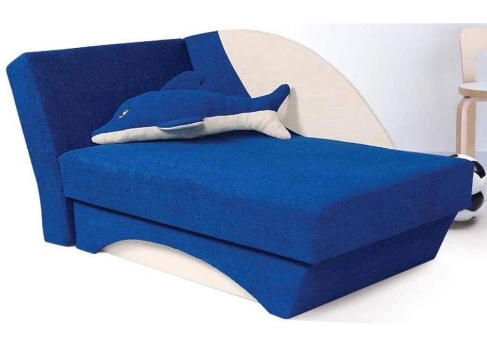 детский диванчик дельфин синий